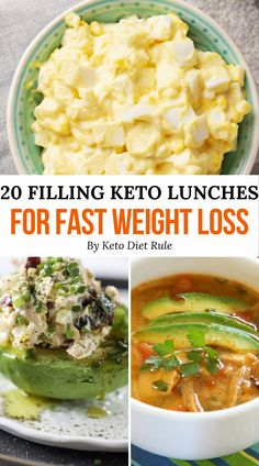 Lose weight quickly while enjoy delicious foods on your keto diet meal plan. Here are 20 quick, delicious, and satisfying keto lunch ideas for rapid weight loss.  #healthylunch #keto #cleaneating #ketorecipes #ketogeniclunch #lowcarblunchrecipes #StomachFatBurningFoods Keto Lunch Ideas, Lunch Recipes, Diet Recipes, Healthy Recipes, Healthy Foods, Delicious Recipes, Diet Desserts, Healthy Weight, Healthy Eating