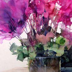 Watercolor by Elke Memmler. #watercolor #painting #watercolour #art #flowers #stilllife #живопись #акварель #искусство #натюрморт #цветы