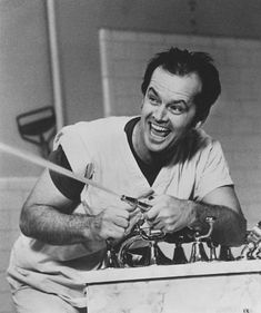 Jack Nicholson as R.P. McMurphy in, One Flew Over the Cuckoo's Nest. One of the best films I've ever seen. A true favourite