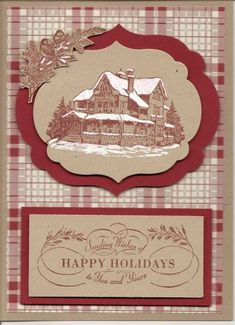 Christmas Lodged Framed by kathynruss - Cards and Paper Crafts at Splitcoaststampers