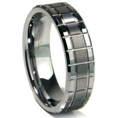 Tungsten Carbide Matrix Wedding Band Ring Metal Collections. $29.99