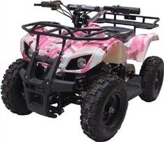 350 Watt Sonora Electric Ride on Mini Quad Utility ATV for Kids, Pink