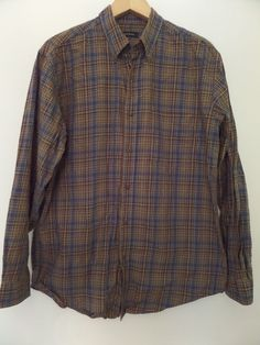 "CLUB ROOM Men's Shirts Size-(  ) 23""x27""24"" Multi-Color Long Sleeve Very Good #ClubRoom #ButtonFront"