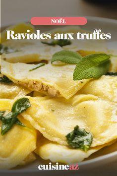 Les ravioles aux truffes sont un plat facile à cuisiner pour les fêtes de fin d'année. #recette#cuisine#pates#ravioles #truffe #noel#fete#findannee #fetesdefindannee