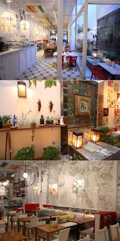 I loved loved loved this restaurant when I was living in Buenos Aires. Resturant Interior, Restaurant Interior Design, Cool Restaurant, Restaurant Branding, Brick Interior, Cafe Interior, Banquettes, Commercial Design, Commercial Interiors