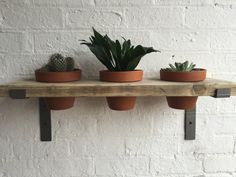 Great talking point to any room. Each shelf is unique and full of character due to the reclaimed timber used, emphasised by a wax option of your choice. Plant pots included but no plants sorry! Bespoke and bulk orders available, please contact us for more details info@101furniture... #reclaimed #industrial #style #furniture #101furniture #furnituredesign #interiordesign #bespoke #shelves #shelf #plants #garden #plantpot #herbgarden