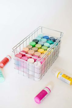 Are you trying to find perfect craft storage ideas to steal? These Craft Room Organization ideas are going to give you a perfectly organized space with ALL of your supplies to hand. This small space sewing room is to die for. Not to mention the fact that it's pastel. It's a beautiful small space craft room & the storage craft desk is awesome. I love all the sections to store supplies & glass top so you can see #sewingroom #craftroom #craftstorage #storage #homeoffice #sewing #craftstudio #hhmuk Paint Storage, Craft Room Storage, Craft Organization, Storage Ideas, Craft Desk, Craft Rooms, Office Storage, Creative Crafts, Diy Crafts