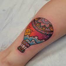 Risultati immagini per hot air balloon tattoo