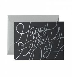 Platinum Father's Day Single Folded Card & Matching Envelope