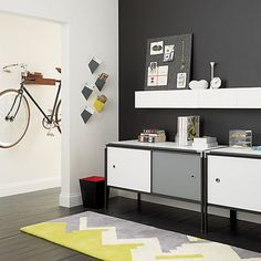 hide n' seek storage shelf in wall mounted storage | CB2