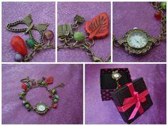 "Handmade bronze bracelet ""Late autumn"""