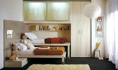 Modern Bedroom Ideas for Small Rooms: Minimalist Bedroom Interior Design Ideas – Jaybean 10x10 Bedroom Design, Small Bedroom Interior, Small Bedroom Storage, Small Space Bedroom, Small Bedroom Designs, Bedroom Layouts, Bedroom Styles, Small Rooms, Home Interior