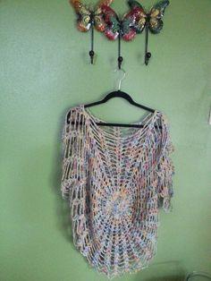 Blusa Telaraña  A Crochet