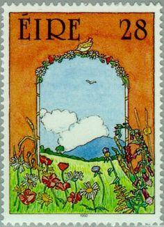 Sello: Mountain Region (Irlanda) (Greetings) Mi:IE 789A,Sg:IE 841