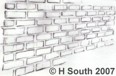 Image result for how to draw brick wall   Drawing ...