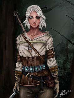 Ciri from Witcher Wild Hunt. Still witcher fanart: Yennefer of vengerberg (Witcher Ciri (Witcher The Witcher Geralt, Geralt Of Rivia, Female Character Inspiration, Character Design, Yennefer Of Vengerberg, Witcher 3 Wild Hunt, Female Characters, Fictional Characters, White Wolf