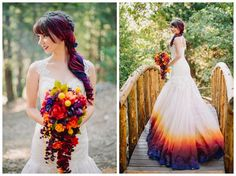 Dip Dye Your Dress For A Unique And Colorful Wedding