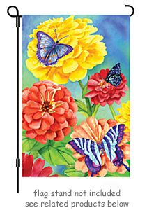 """Butterfly Garden.  Garden flag size 12""""W. by 18""""H. **Free shipping to anywhere in the USA.**"""