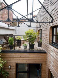 Poutre métallique patio