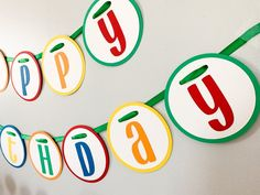Let's Have a Ball Birthday Party Decorations*Primary Colors Birthday*Colorful Birthday Party*Rainbow Birthday Decorations*birthday banner Rainbow Birthday Decorations, Colorful Birthday Party, Ball Birthday Parties, Happy Birthday Banners, Baseball First Birthday, Tractor Birthday, My Son Birthday, Primary Color Party, Primary Colors