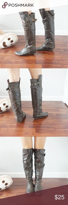 Over the knee boots Cathy jean over the knee boots with top strap with zipper 🚨 ONE DAY SALE 🚨 Cathy Jean Shoes Over the Knee Boots