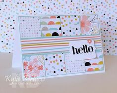 Nice simple card that can be used for lots of different papers.  Saleabration 2014, Banner Blast, Four You, Sweet Sorbet Designer Series Paper