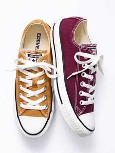 Chuck Taylor® All Star Sneaker - Converse® - Victoria's Secret from Victoria's Secret. Saved to shoes I 💚. Style Converse, Colored Converse, Outfits With Converse, Converse Sneakers, Converse All Star, Maroon Converse, White Converse Shoes, Galaxy Converse, Sock Shoes