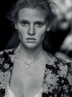 Lara Stone for Interview Magazine by Peter Lindbergh - Saint Laurent