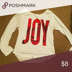 Womens shirt Long sleeve JOY shirt Aeropostale Tops Tees - Long Sleeve