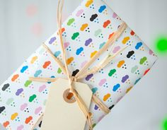 Colourful Cloud Gift Wrap