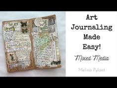 You Are Art, Collage Art Mixed Media, Travelers Notebook, Art Journaling, Altered Art, Paper Crafts, Youtube, Crafty, Videos