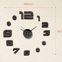 Nalepovacie nástenné hodiny, MPM 3776,90, 60cm Black Dots, Black Silver, Diy Clock, Cladding, Mirror, Cats, Gatos, Mirrors, Cat