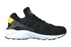 Nike Air Huarache -- black/tour yellow