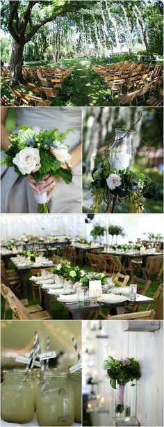 photo: Kelly Brown Weddings; Rustic-Glam wedding decor details.