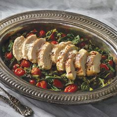 This recipe is amazing! Everyone in my house cleaned their plates including my picky eaters. Super nutritious too! Chicken Over Warm Kale and Asparagus Salad