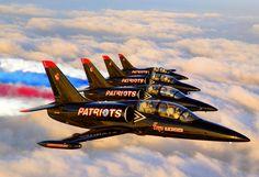 The L-39 team flys four Boeing/Aero-Vodochody ...