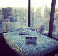 This beautiful room with an amazing city view. Love this so much.
