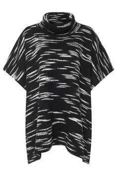 'Sammentica'   Virgin Wool Blend Poncho