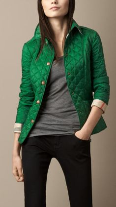 Burberry Diamond Quilted Jacket | #Chic Only #Glamour Always