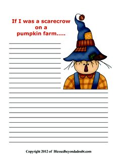 FREE Fall Writing Prompts and Notebook Pages!