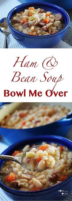 Factors You Need To Give Thought To When Selecting A Saucepan Ham And Bean Soup Is One Of The Best Slow Cooking The Beans Makes Them Creamy And Delicious. It's Easy And Affordable Too Ham And Beans, Ham And Bean Soup, Ham Soup, Pork Bacon, Bowl Of Soup, Soup And Sandwich, Pressure Cooker Recipes, Slow Cooking, Cooking Ideas