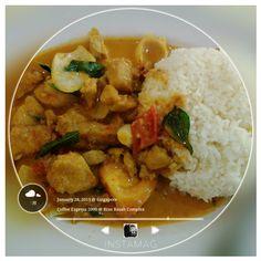 #FD1502 #MalayFood  咖喱鸡块饭,非常好吃!