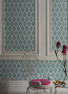 Tessella wallpaper from Farrow and Ball