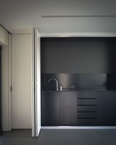 Small kitchen design - hidden kitchen - Office Conversion in Cascais Portugal by GGLL atelier Minimalism Interior, Kitchen Inspirations, House Design, Interior, Hidden Kitchen, Office Interiors, Kitchen Office, Office Kitchenette, Interior Design