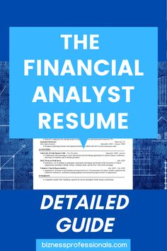 On the path to becoming a financial analyst, a solid professional resume is a must-have. Your resume will get you through the doors for an interview. In this post, we'll focus on building a financial analyst resume. This detailed guide dives deep into what to include, things companies look for, and how to format and structure your resume. #resumetips #financialanalyst #financeresume #career #businessstudent