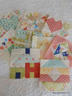 A Quilting Life - a quilt blog: Splendid Sampler Block 10 | Iowa