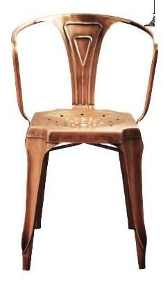 Isaac iron armchair in copper, Graham and Green #ClippedOnIssuu from Warehouse Home Launch Issue