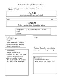 English worksheet: How to write a newspaper article   Journalism ...