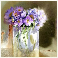 Shin Jong Sik is an artist and is the first time user of Mission watercolor in Korea. He had used 3 different brands of imported watercolor paints until when he wholly turned to Mission after monitoring Mission watercolor. Art Floral, Watercolor And Ink, Watercolour Painting, Watercolor Flowers, Watercolours, Korean Painting, Art Aquarelle, Korean Art, Painting Inspiration