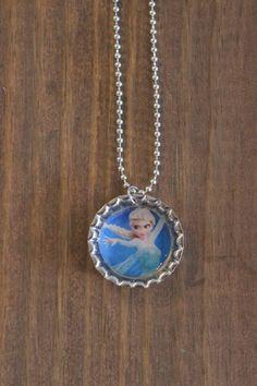 ELSA!!! Disney Frozen Elsa Bottle cap necklace! https://www.etsy.com/listing/181847505/disney-frozen-bottle-cap-necklaces-elsa?ref=shop_home_active_1
